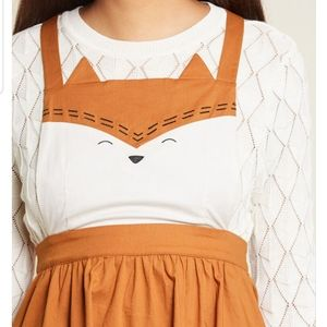 NEW Modcloth Forever and Clever Fox Jumper